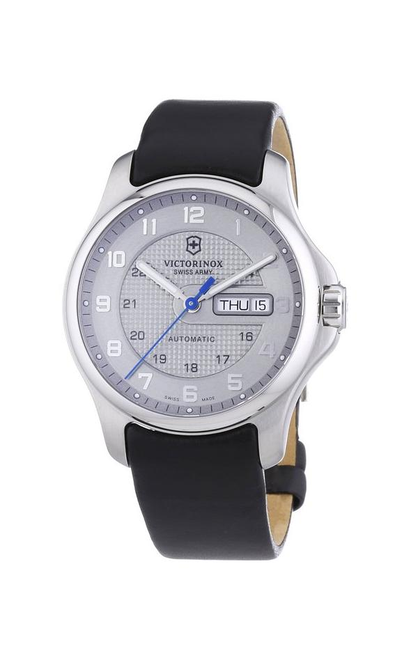 swiss army victorinox officers leather automatic mens