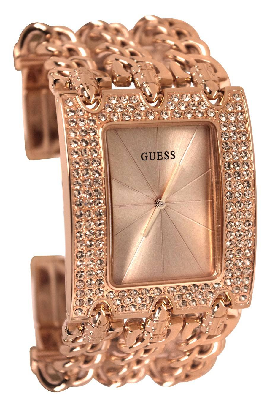 GUESS Rose Gold-Tone Multi-Chain Ladies Watch U0085L3 | eBay