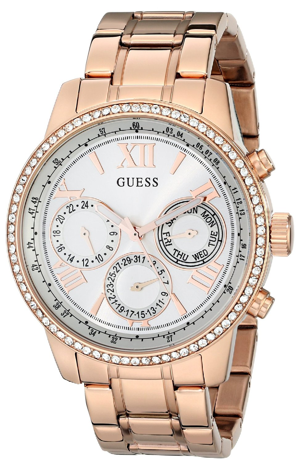 GUESS Rose Gold-Tone Damen Armbanduhr Watch U0559L3